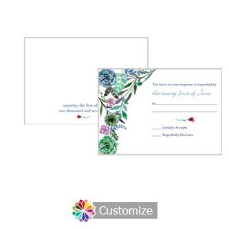 Floral Spring Meadow Flowers 5 x 3.5 RSVP Enclosure Card - Reception