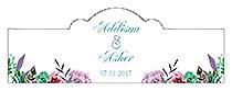 Spring Meadow Flowers Billbord Cigar Band Wedding Labels