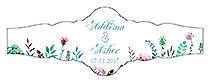 Spring Meadow Flowers Fancy Cigar Band Wedding Labels