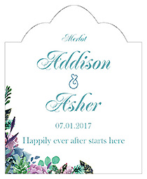 Spring Meadow Flowers Scalloped Vertical Big Rectangle Wedding Labels