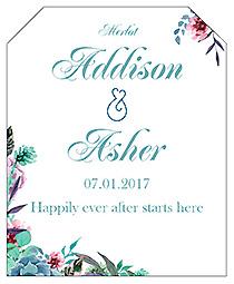 Spring Meadow Flowers Wine Wedding Label
