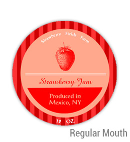 Strawberry Fields Regular Mouth Ball Jar Topper Insert