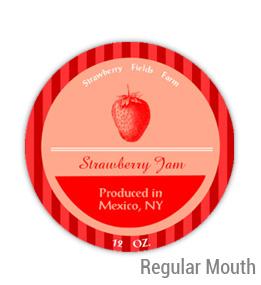Strawberry Fields Regular Mouth Ball Jar Topper Insert