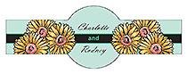 Summer Floral Trio Wedding Cigar Band Label