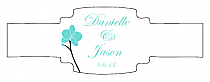 Summer Orchid Buckle Cigar Band Wedding Labels