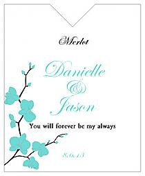Summer Orchid Wine Wedding Label 3.25x4
