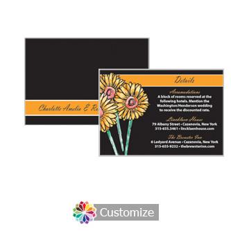 Floral Summer Floral Trio 5 x 3.5 Details Enclosure Card