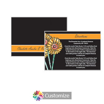 Floral Summer Floral Trio 5 x 3.5 Directions Enclosure Card