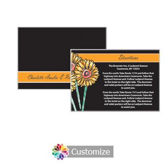 Floral Summer Floral Trio 5 x 3.5 Directions Enclosure Card