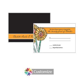 Floral Summer Floral Trio 5 x 3.5 RSVP Enclosure Card - Reception