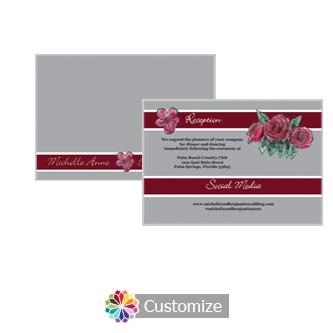 Floral Sweet Botanical Rose 5 x 3.5 Details Enclosure Card