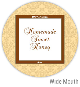 Sweet Honey Wide Mouth Ball Jar Topper Insert