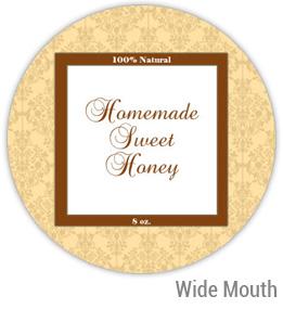 Sweet Honey Wide Mouth Ball Jar Topper Insert