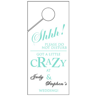 Text Wedding Door Hanger 4x9