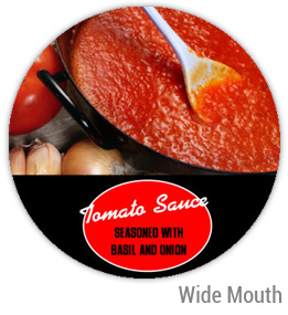 Tomato Sauce Wide Mouth Ball Jar Topper Insert