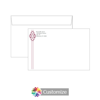 Custom Ribbon Envelopes for Wedding Invitations