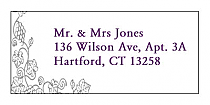 Vintage Address Wedding Labels