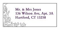 Vintage Address Wedding Labels