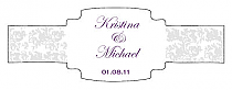 Vintage Buckle Cigar Band Wedding Labels