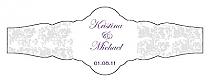 Vintage Fancy Cigar Band Wedding Labels