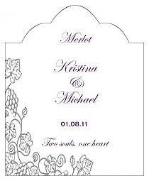 Vintage Scalloped Vertical Big Rectangle Wedding Labels