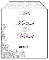 Vintage Wine Wedding Label