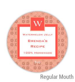 Watermelon Jelly Regular Mouth Ball Jar Topper Insert