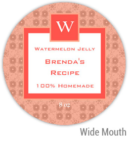 Watermelon Jelly Wide Mouth Ball Jar Topper Insert