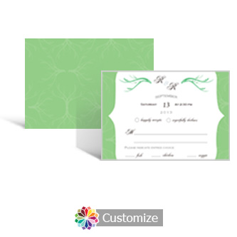 Wave 5 x 3.5 RSVP Enclosure Card - Dinner Choice