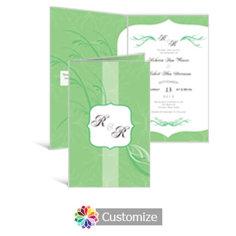 Wave 5 x 7.875 Half-Fold Wedding Invitation