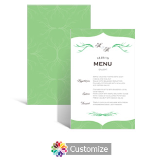 Wave 5 x 7.875 Rectangle Flat Wedding Menu