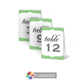 Wave 2.5 x 3.5 Folded Wedding Table Number
