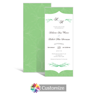 Wave 3.625 x 8.875 Tea-Length Wedding Invitation