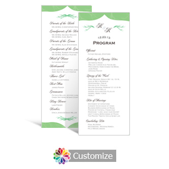 Wave 3.625 x 8.875 Tea-Length Wedding Program