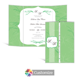 Wave 5 x 7 Gate-Fold Wedding Invitation