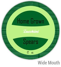 Zucchini Wide Mouth Ball Jar Topper Insert
