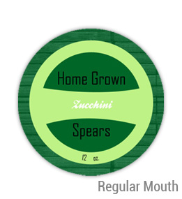 Zucchini Regular Mouth Ball Jar Topper Insert