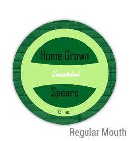 Zucchini Regular Mouth Ball Jar Topper Insert