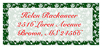 Christmas Floral Personalised Address Labels