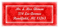Christmas Monogram Address Labels
