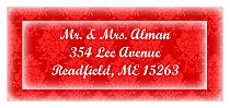 Christmas Monogram Address Labels