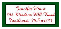 Christmas Memorable Address Labels