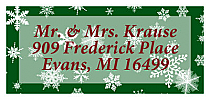 Christmas Winter Wonderland Address Labels