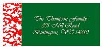 Christmas Rococo Address Label
