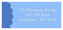 Christmas Ribbon Address Label