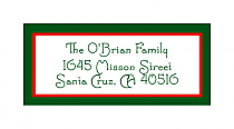 Christmas Shield Design Address Labels