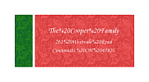 Christmas Romanesque Design Address Labels