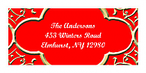Christmas Medici Design Address Labels