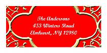 Christmas Medici Design Address Labels
