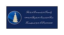 Christmas Tree Memorable Design Address Labels